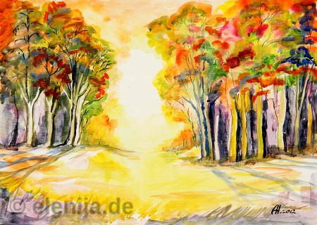 Die Farben des Herbstes, von Elenija