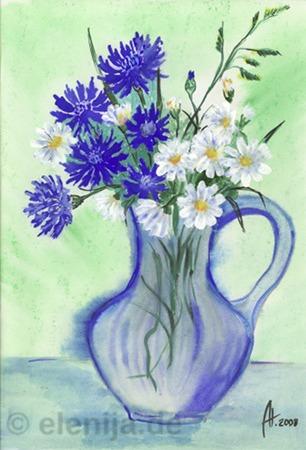 Wiesenblumen, von Elenija