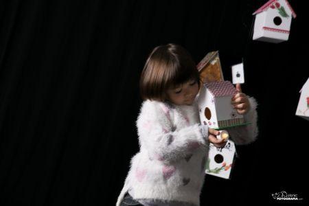 fotografia infantil navidad en estudio