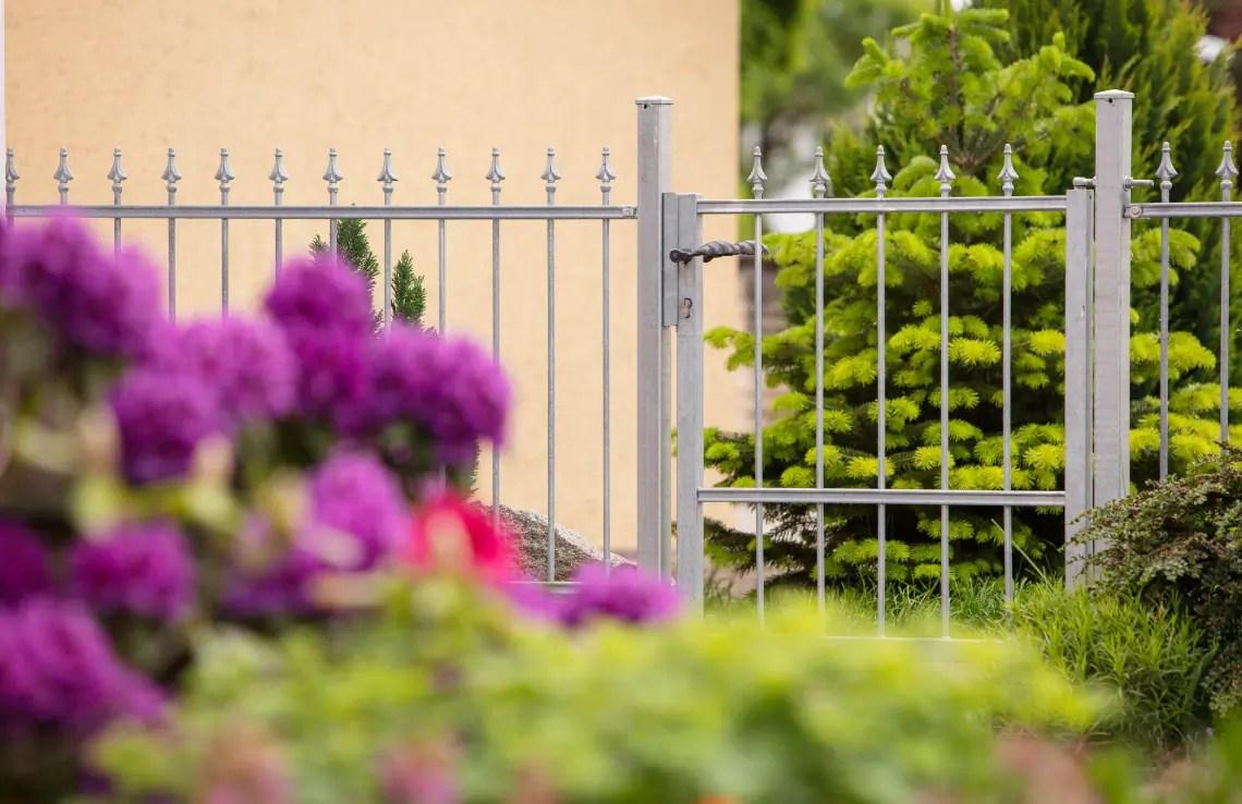 Gartentor Ravenna - feuerverzinkt - Stahlpfosten