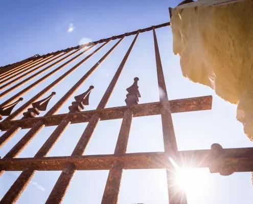 Antiker Zaun Lucca in unbeschichteter Ausfürhung