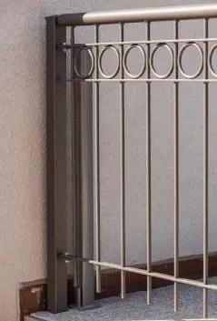 Balkongitter Belluno in pulverbeschichteter Ausführung