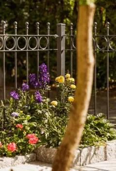 Gartenzaun Belluno aus Metall in pulverbeschichteter Ausführung in anthrazit