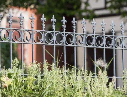 Gartenzaun Bologna aus Metall in pulverbeschichteter Ausführung in anthrazit