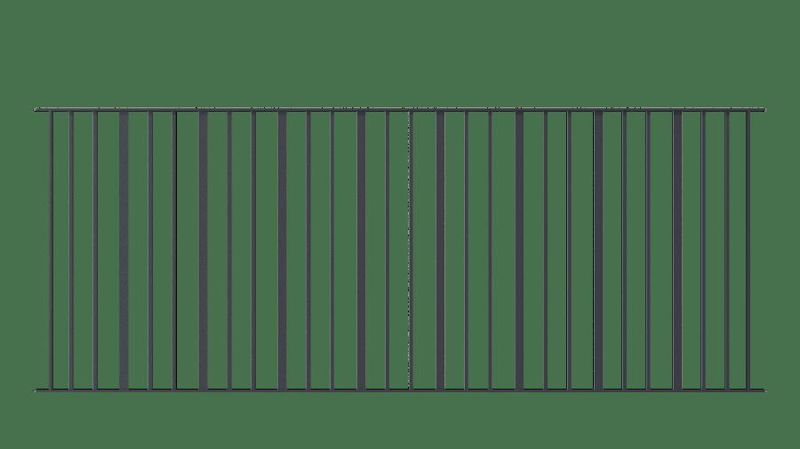 Zaunelemente Modena, gerade Ausführung, pulverbeschichtet