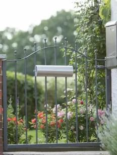 Gartentor Ancona in in pulverbeschichteter Ausführung mit Spitze Kugelstab