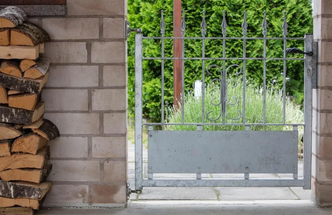 Gartentür Avelino - feuerverzinkt - Stab