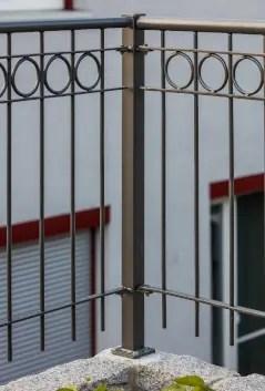 Geländer Belluno in pulverbeschichteter Ausführung