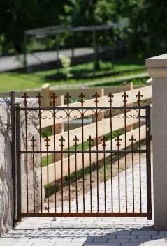 Gartentor Lugano in unbeschichteter Ausführung