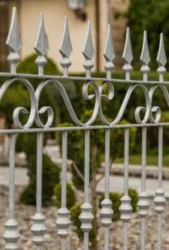 Verzinkter Gartenzaun Balerna aus Metall