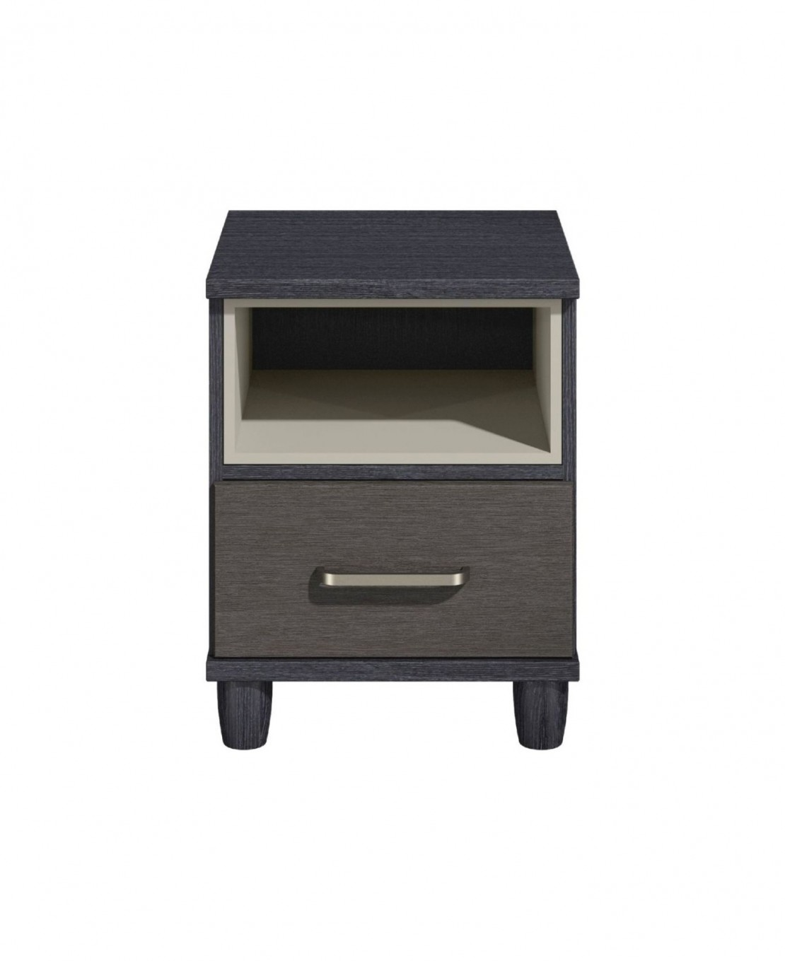 Deco1 Drawer Pod Chest Black Oak Carcase With Bedside