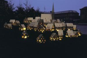 Village de Noël miniature © Geneviève Engel