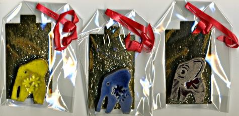 magnets éléphant à gagner JEU MAIL ART