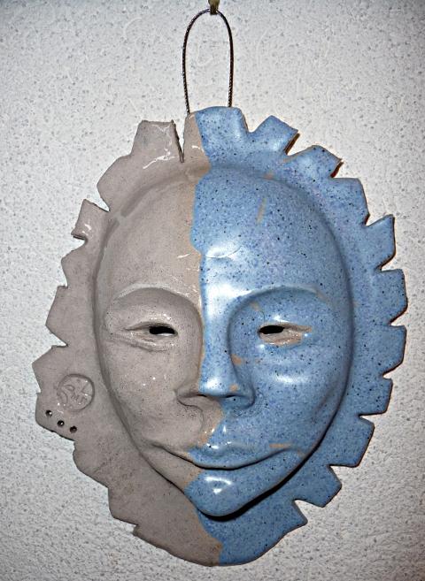 "masque ""ambivalence bleue"" © Michèle Ruffin"