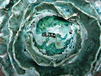 chou  céramique et verre © Michèle Ruffin