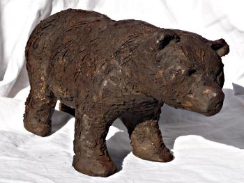 ours brun - sculpture céramique © 2010 - Michèle Ruffin