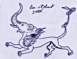 éléphant en Inde - art postal février 2011