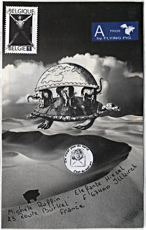 art postal de Piggy sur la vision poétique de l'univers chez les anciens indous