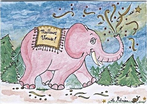un éléphant rose...