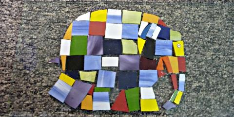 Elmer - fusing - pose et collage des découpes