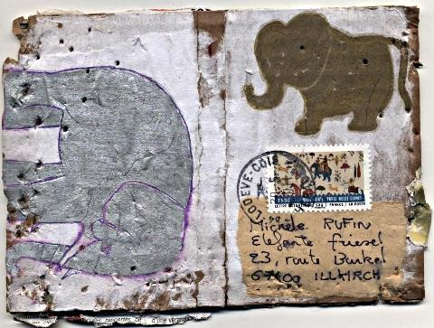 mail art postal mai - le livre de Lilou
