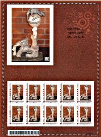 """Timbre postal personnalisé TPP """"elephemme"""" cuir Valeur France 20 g"""