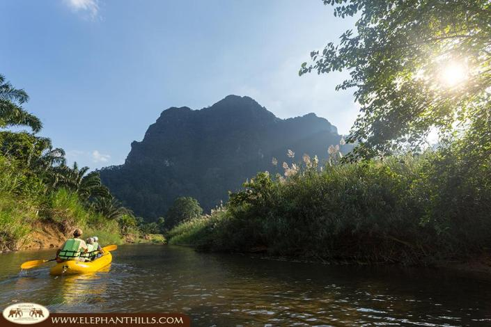 Canoeing with a private paddle man on Sok River to spot for wildlife
