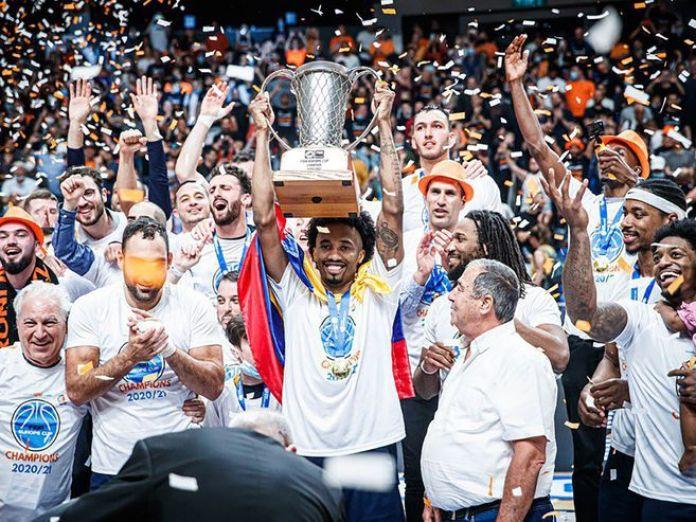 Angola durante la celebración del título el pasado domingo.