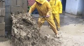Torrencial lluvia inundó algunas  casas en sector de Macas – La Playa