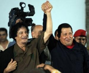 Muammar Al Gaddafi y Hugo Chávez