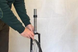 5547 Montiamo la bici serie sterzo trittico leve Surly Cross Check 86
