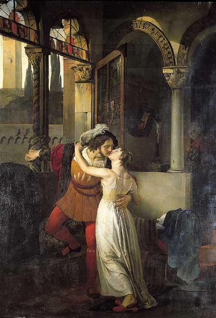 2. El último beso de Romeo y Julieta, Francesco Hayez, 1823