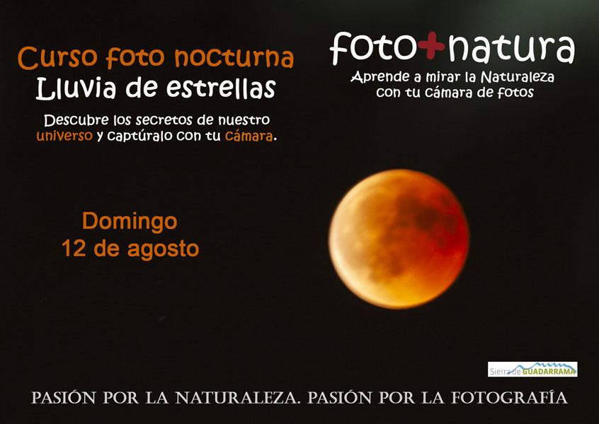 Perseidas, curso fotografía nocturna, foto nocturna, curso naturaleza, curso astronomia, Sierra de Guadarrama, El Estudio de Silvia