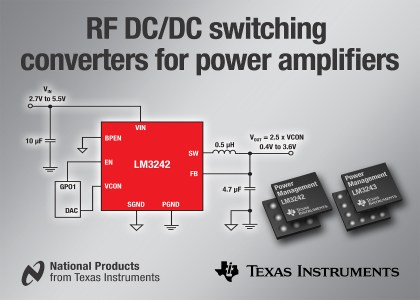 LM3242-420x300 Texas Instruments introduce nuovi convertitori DC/DC per  dispositivi 2G, 3G e 4G