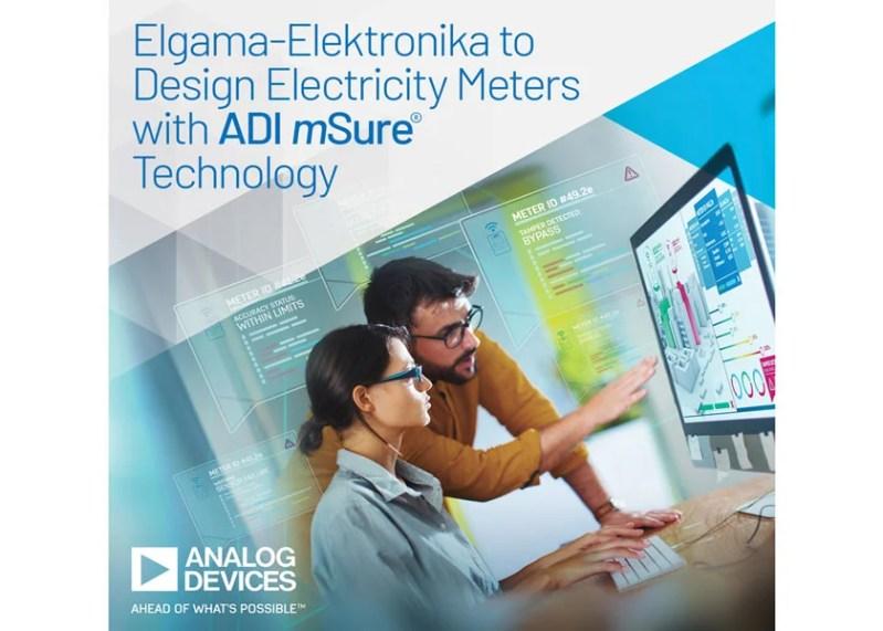 I contatori di nuova generazione Elgama-Elektronika sfruttano la tecnologia mSure di Analog Devices