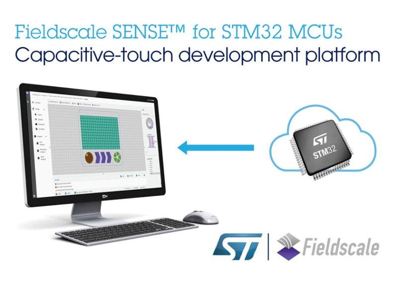 STMicroelectronics e Fieldscale offrono controlli touch intuitivi per i dispositivi basati su STM32
