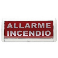 Cartello luminoso allarme incendio