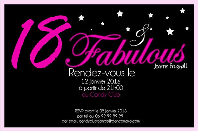 Carte Invitation Anniversaire Gratuite 18 Ans Garcon Elevagequalitetouraine