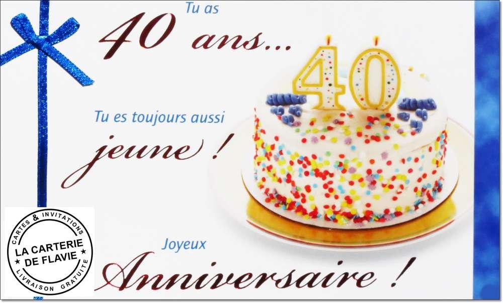 Carte Anniversaire 40 Ans Gratuite À Imprimer - Invitation anniversaire 40 ans texte humoristique gratuit ... - + 10 000 cartes sur 100carteanniversaire.