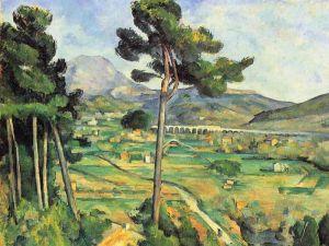 La montaña Sainte-Victoire vista desde Bellevue, Paul Cezanne