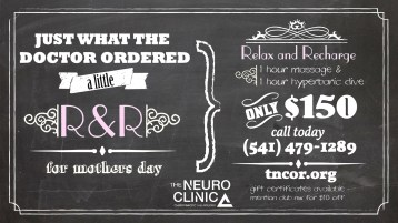 Chalkboard Ad for Mothers Day Promotion