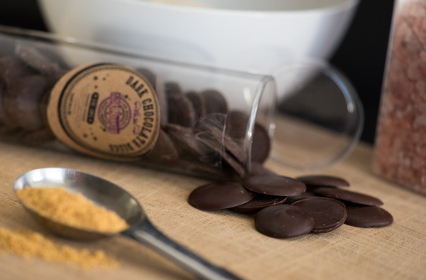 Elevate Creative Product Photography - Chocolate Chips in Staged Baking Scene
