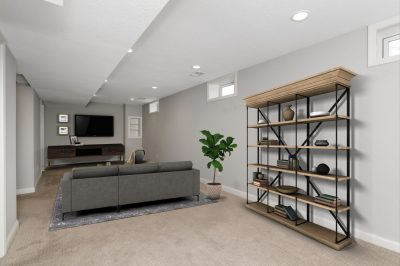 Virtual staged basement