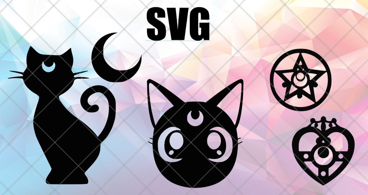 Luna Sailor Moon Svg File For Cricut Cameo Eleven Twenty Six
