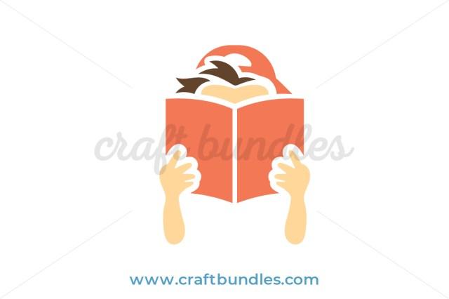 Book Reader SVG Cut File