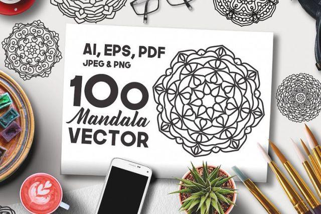 100 Vector Mandala