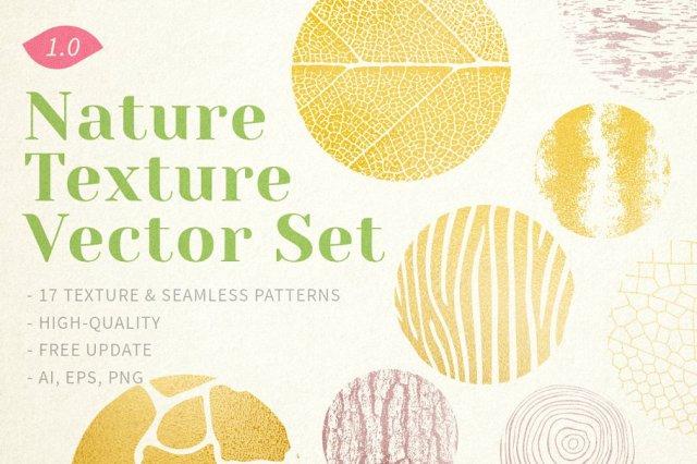 Nature Texture Vector Set