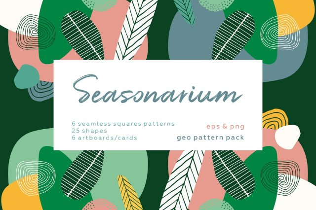 Seasonarium - Abstract botanical set