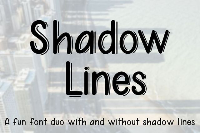 Shadow Lines Font