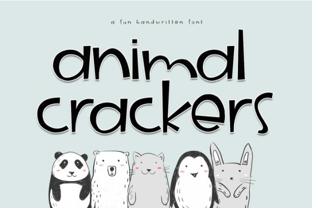 Animal Crackers - A Fun Handwritten Font